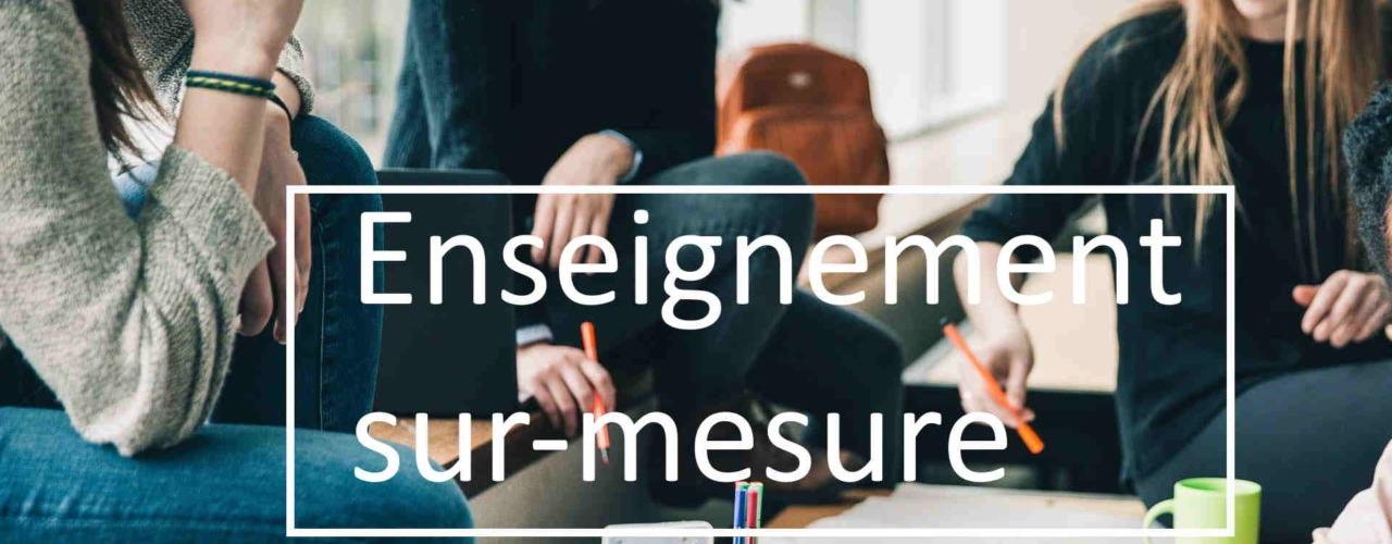 Enseignement sur mesure [Image]